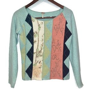 Free People Mix Up Argyle Gilmore Girls Sweater
